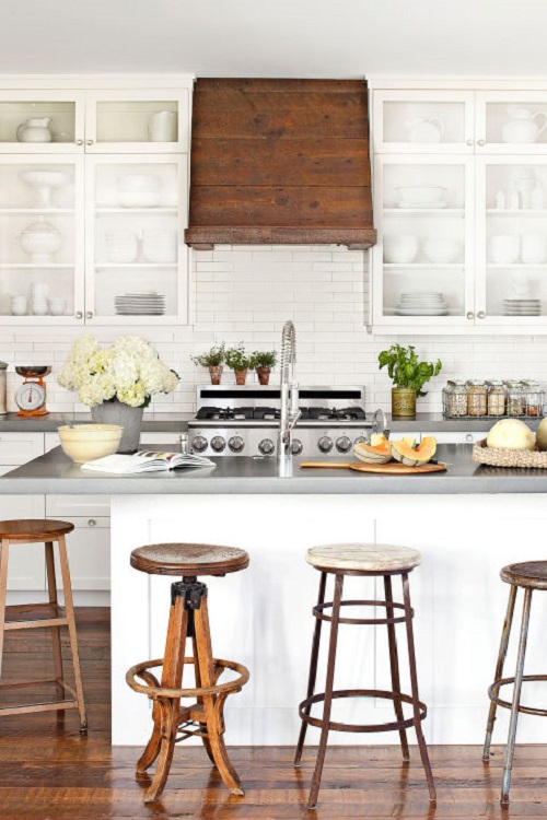 Barn Wood-Covered Kitchen Range Hood