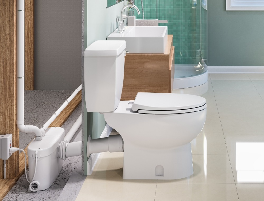 Have A Daydream For A Basement Bath A Macerating Toilet