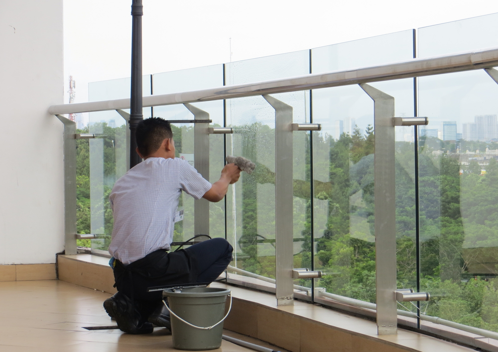 Cleaning Glass Balustrades