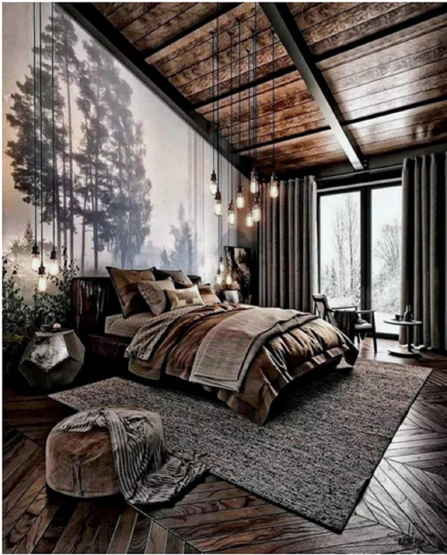 Cabin Style Bedroom